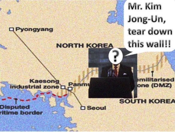 The North, South Korea Border